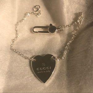 Gucci sterling silver heart bracelet